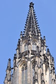Detail towerPrague St. Vitus Cathedral in Hradcany — Stock Photo