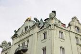 布拉格街道,著名的房子 — 图库照片