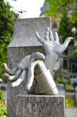 Vlasta burian, anıt vysehrad mezarlığı prague  — Stok fotoğraf