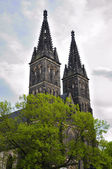 Church of St Peter and St Paul in Vysehrad castle in Prague — Stock Photo