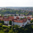 View of Prague city from Petrin tower - Stock Photo
