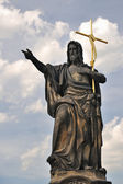 Saint John, the Baptist- statue on the Charles bridge — Stock Photo