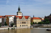 View on embankment of Old city Prague — Stock Photo