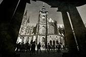 Vintage cattedrale di praga san vito in hradcany — Foto Stock