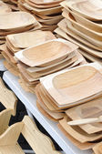Dřevěné koryto pouliční trh — Stock fotografie