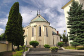 Krupina Roman Catholic Church of the Blessed Virgin Mary — Stock fotografie