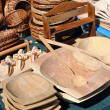 Stock Photo: Wooden trough street market