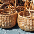 Braided wicker baskets — 图库照片