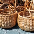 图库照片: Braided wicker baskets