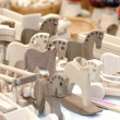 Wooden toys for rural market — Stock Photo