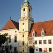 Town hall on the main square, Bratislava — Stock Photo