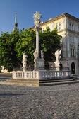 Colonna della peste di turistico, bratislava — Foto Stock