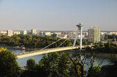 New bridge - view from Bratislava castle — Stock Photo