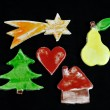 Christmas decorations handmade — Stock Photo