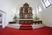 Catholic church in the village Vysoka — Stockfoto