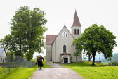 Catholic church in the village Vysoka — Photo