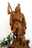 Statue of St. George in the church Jergystolna — Stock Photo