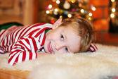 Portrait of short-haired little boy — Stock Photo