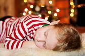 Sleeping short-haired little boy — Stock Photo