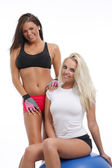 Two athlete women — Stockfoto