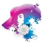 Abstract woman. Vector fashion illustration — Stock Vector #28862419