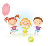 Happy kids. Vector illustration — Vector de stock
