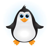 Cute baby penguin — Stock Vector