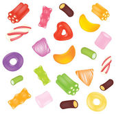 Vector candies background — Stock Vector