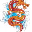 Vector chinese dragon — Stock Vector