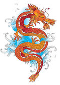 Vector chinese dragon — Vector de stock