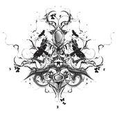 Diseño heráldico grunge — Vector de stock