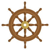 Boat steering wheel — Vector de stock