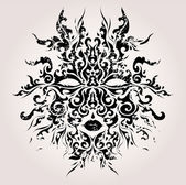 Abstract vector mask — Vector de stock