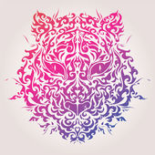 Abstract tiger mask vector illustration — Vector de stock