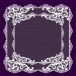 Frame lace-like — Stock Photo