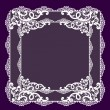 Stock Photo: Frame lace-like