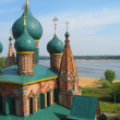 Orthodox Cathedral with blue cupola — Stock Photo #6732417