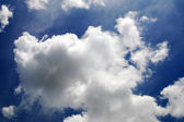 White clouds and Blue sky background — Stock Photo