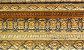 Native art carved on the wall in the temple, Thailand — Foto Stock