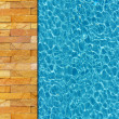 Stock Photo: Cool water in swimming pool background