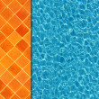 Cool water in swimming pool background — Stock fotografie