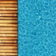 Cool water in swimming pool background — Foto de Stock