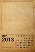 2013 Calendar, May on empty old paper — ストック写真