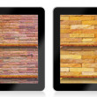 Empty  book Shelf background for ebook in tablet pc — Photo