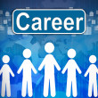 Career ,Business concept in word Human resources - Foto Stock