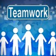Teamwork ,Business concept in word Human resources — Stock fotografie