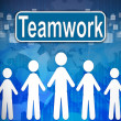 Teamwork ,Business concept in word Human resources — Stock Photo #14602915