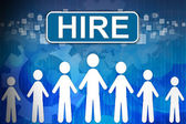Hire ,Business concept in word Human resources — Stock Photo