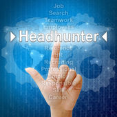 Headhunter,Business concept in word for Human resources — Photo
