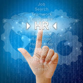 HR,Business concept in word for Human resources — Stock Photo